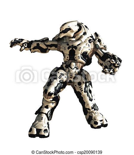 Futuristic Robot Drawings Science Fiction Battle Robot
