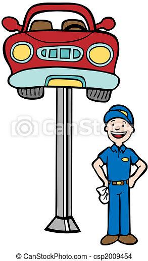 Auto Mechanic Car Lift - csp2009454