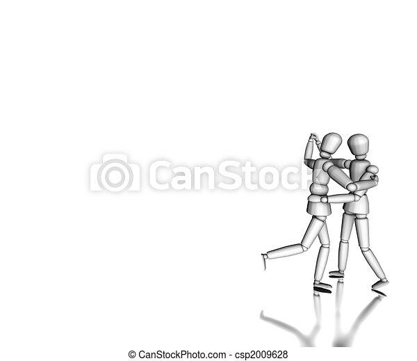 figuras, bailando - csp2009628
