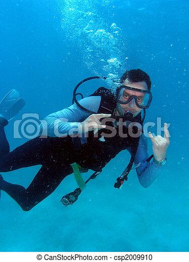 Man Scuba Diving - csp2009910