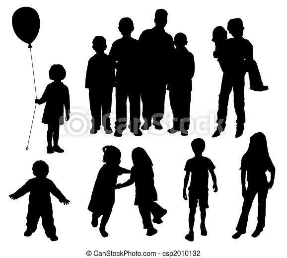 Children silhouettes - csp2010132
