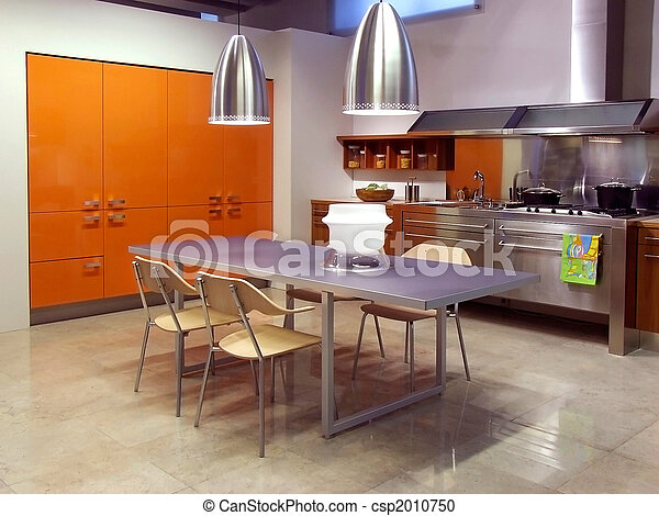 Modern Kitchen Architecture - csp2010750