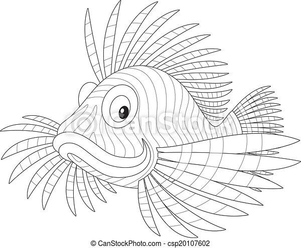 Scorpion Fish Drawing Vector Scorpion Fish