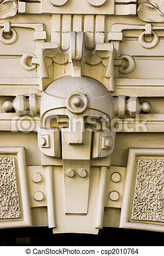 Detail of Art Nouveau building - csp2010764