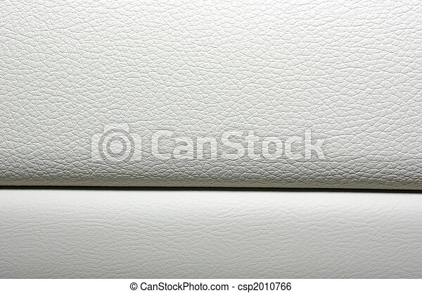 White leather background. Modern japanese car interior materials. - csp2010766
