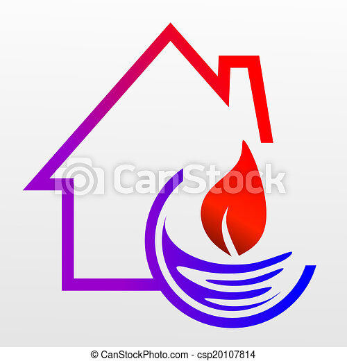 clipart von heizung vereinfacht zeichen f r gas und wasser csp20107814 suchen sie. Black Bedroom Furniture Sets. Home Design Ideas