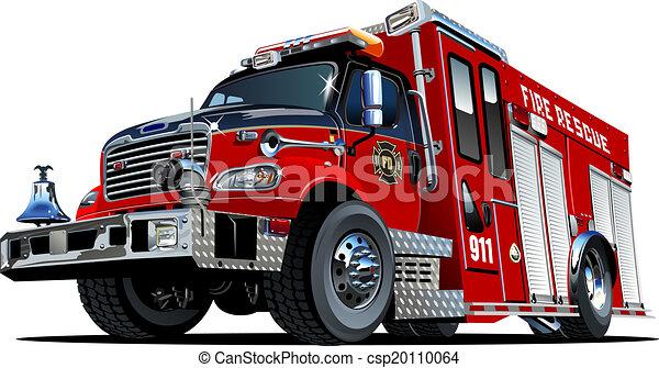 Vector Cartoon Fire Truck - csp20110064