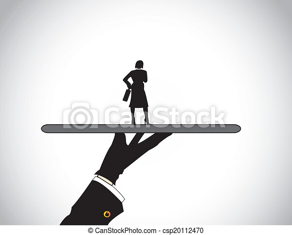 Vectors Illustration Of Hand Agency Best Woman Candidate