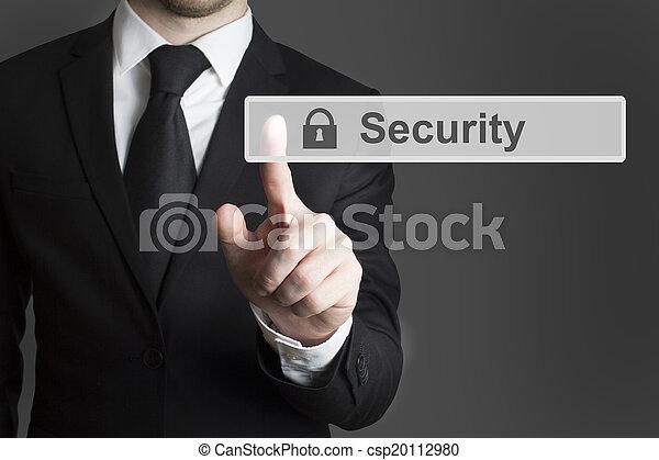 touchscreen security businessman - csp20112980