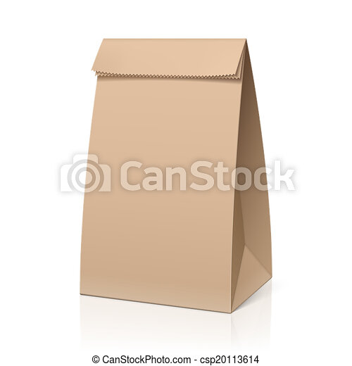Vector Clip Art of Recycle brown paper bag csp20113614 - Search ...