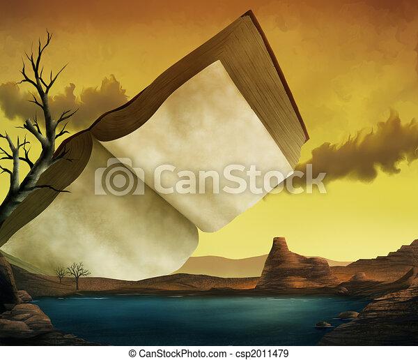A Textbook Surrealist Landscape - csp2011479