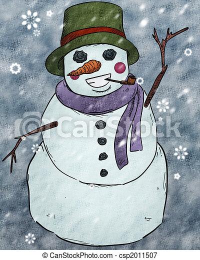 Snowman Clipart - csp2011507