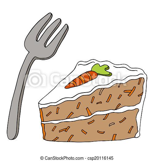 Clip Art Of Carrot Cake : EPS Vector of Carrot Cake - An image of a slice of carrot ...