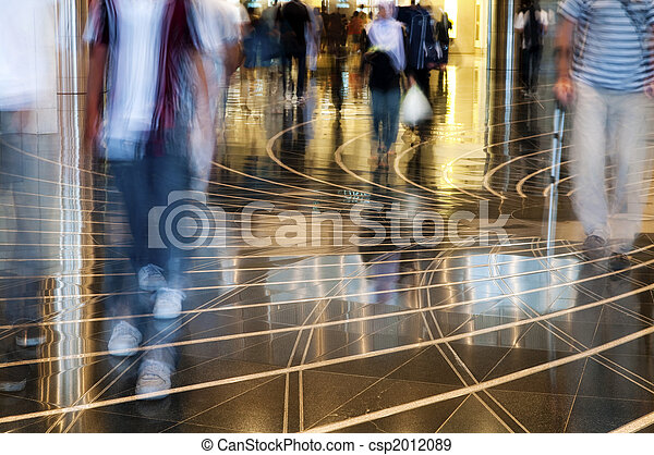einkaufszentrum, Gehen, durch, Leute - csp2012089