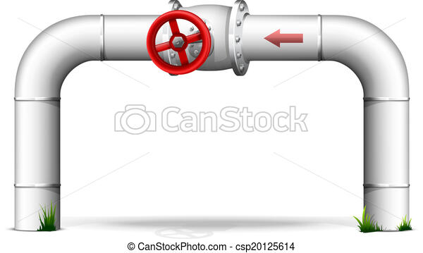 Pipe with red valve - csp20125614