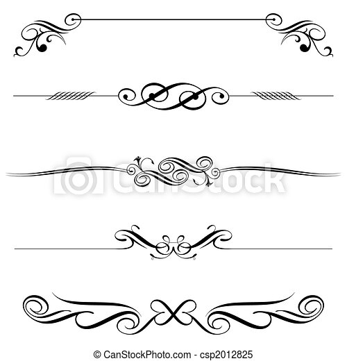 Horizontal Elements Decoration - csp2012825