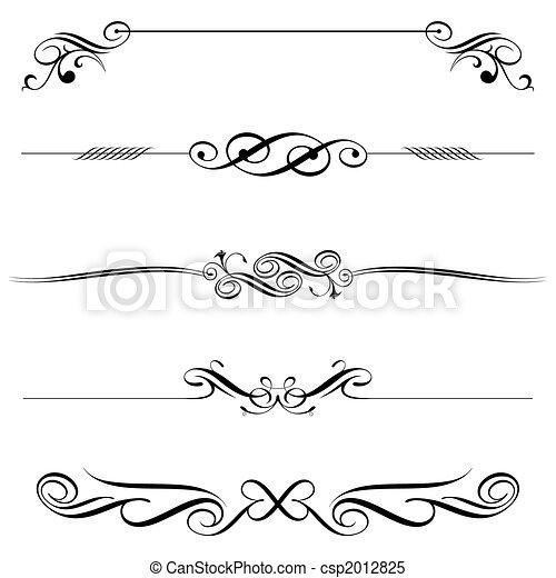 Horizontal Elements Decoration - csp2012825