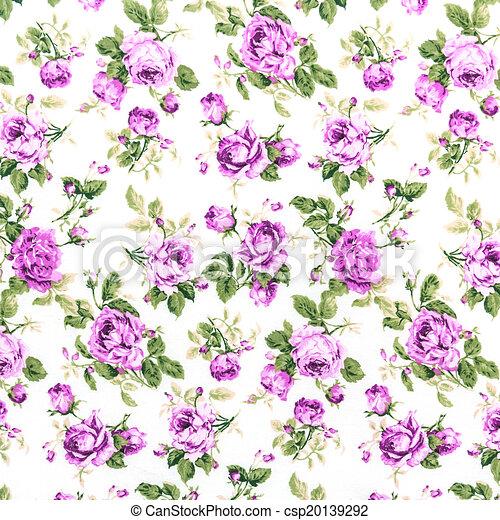 Retro Purple Fabric Purple Rose Fabric Background
