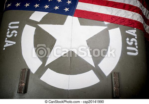hood of military vehicle - csp20141990