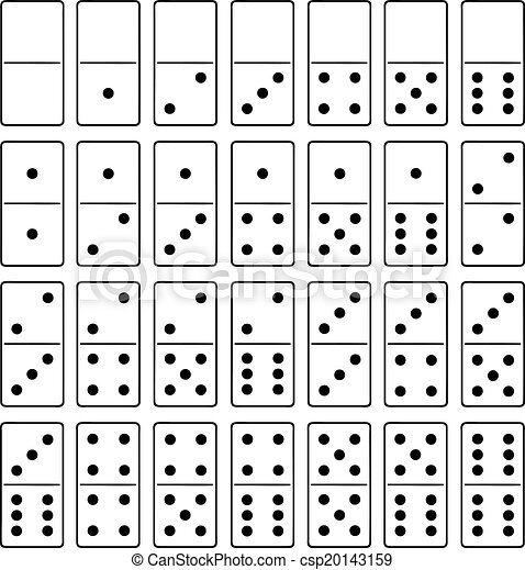 Clipart Vector of Domino set isolated on white csp20143159 ...