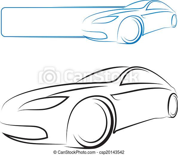 car design for vector - csp20143542