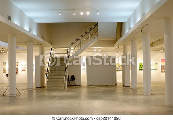 white art gallery - csp20144898