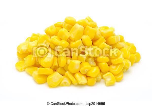 Stack of sweetcorn kernels - csp2014596