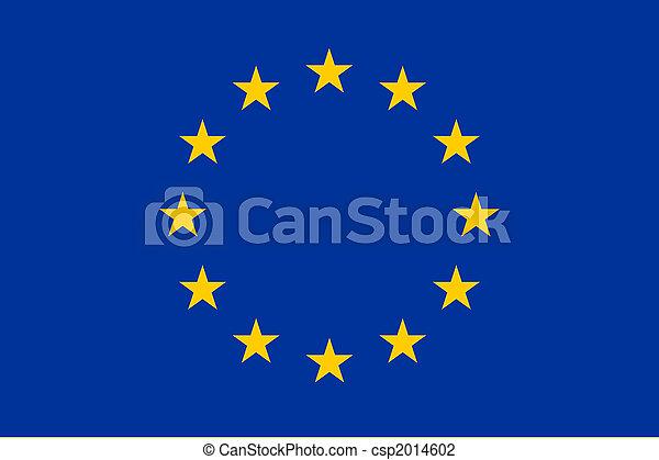 Flag of Europe - csp2014602