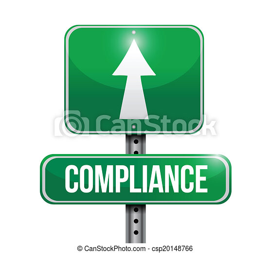 Clip Art Vector of compliance street sign illustration design over white csp20148766 - Search ...