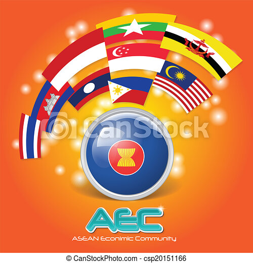ASEANの旗 - Flag of the Association of Southeast Asian Nations