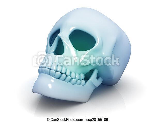human skull isolated on white background - csp20155106