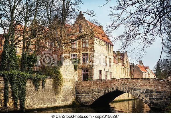 Bridges in medieval Bruges - csp20156297