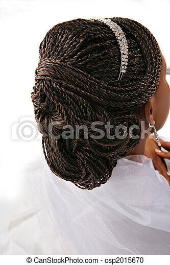 Fancy Female Hair Braid Closeup - csp2015670