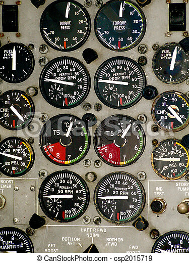 Airplane cockpit instruments - csp2015719