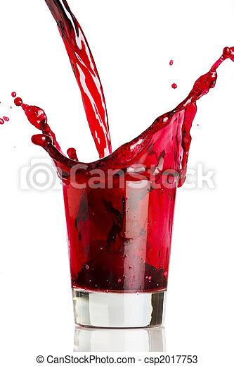 Pouring a red beverage  - csp2017753