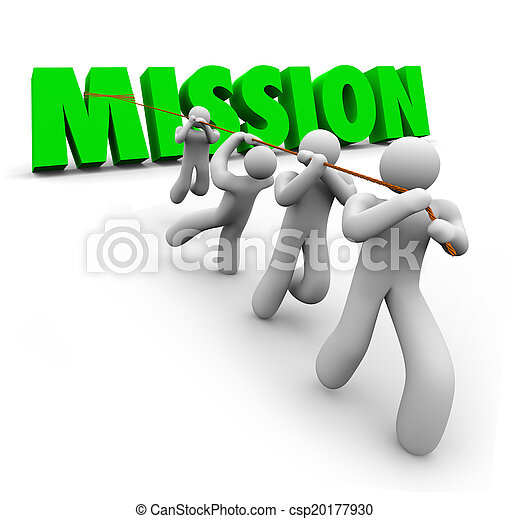 Mission Team Pulling Together Achieve Goal Objective Task - csp20177930