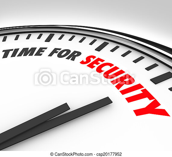 Time for Security Words Clock Safety Manage Risk - csp20177952