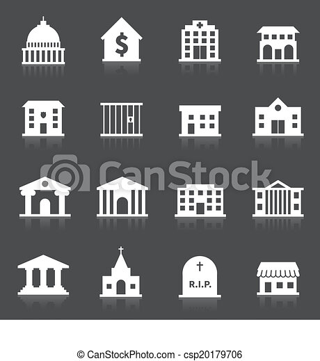 Government buildings icons - csp20179706