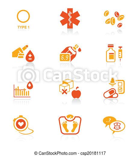 Diabetes icons || JUICY series - csp20181117