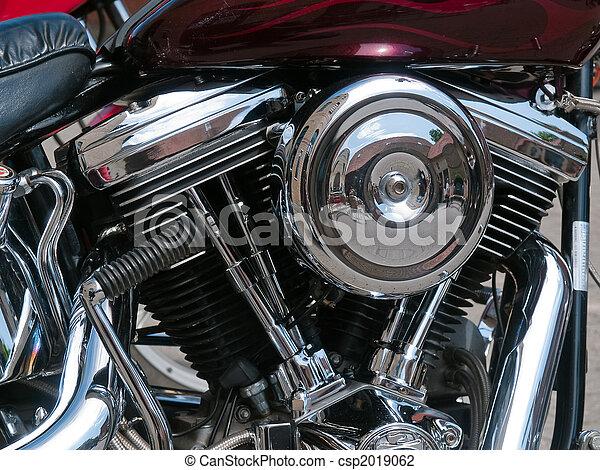 stock foto von motorrad fahrrad chrom motor auspuff details csp2019062 suchen sie. Black Bedroom Furniture Sets. Home Design Ideas