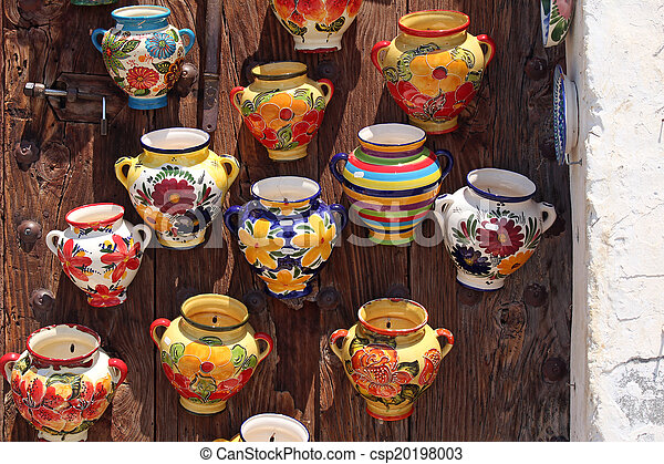 traditional spanish ceramic pots - csp20198003