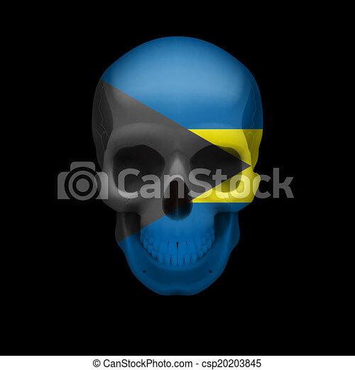 Bahamian flag skull - csp20203845