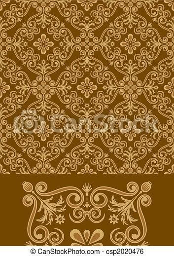 Antique Pattern Design - csp2020476