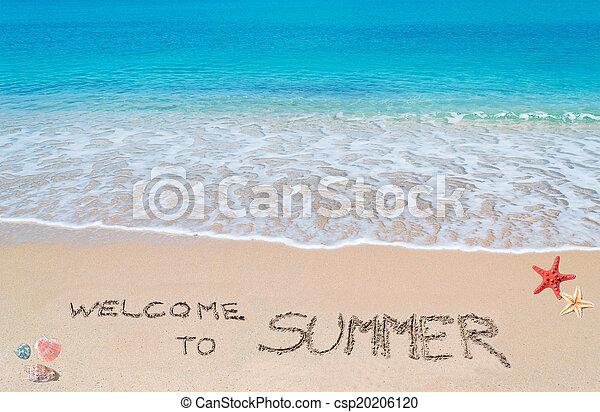 sommer, herzlich willkommen - csp20206120