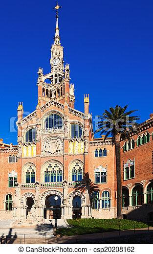 Main facade of Hospital of the Holy Cross and Saint Paul