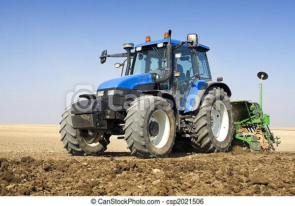 landwirtschaft,  -, Traktor - csp2021506