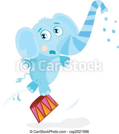 Circus elephant - csp2021996