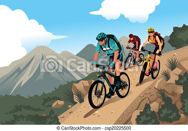 Mountain bikers in the mountain - csp20225500