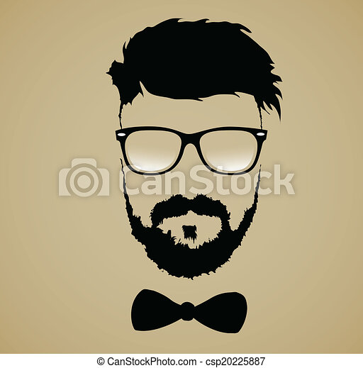 Vector Of Mustache Beard Glasses Hairstyle Beard Glasses