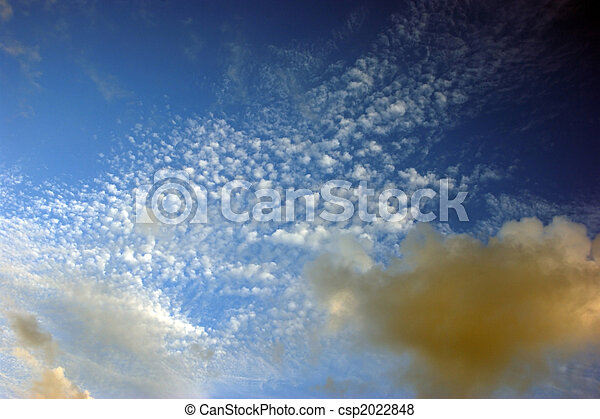 spattering of various types of clouds
